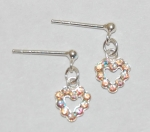 Heart Dangle Earrings - aurora