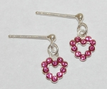 Heart Dangle Earrings - rose