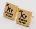 Krypton Elements Earrings - gold