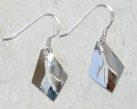 Eagle Track Earrings - sterling silver