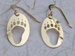 Bear Track Earrings - gold