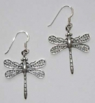 Dragonfly Earrings - silver