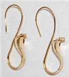 Cobra Snake Earrings - gold