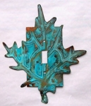 Red Maple Switch Plate - patina