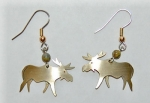 Moose Earrings - brass