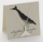 Whale Tail Necklace - silver