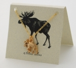 Moose Necklace - gold