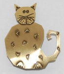 Cat Pin - brass