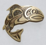 Salmon Pin - brass