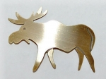 Moose Pin - brass