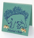 Alaska Bear Earrings - gold