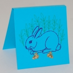 Bunny Post Earrings - gold