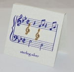 G-Clef Earrings - gold