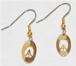 Zebra Track Earrings - gold