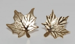 Sugar Maple Leaf Earrings - gold