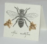Large Bee Natural History Earrings - gold